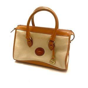 DOONEY & BOURKE Vintage Leather Satchel Brown Tan